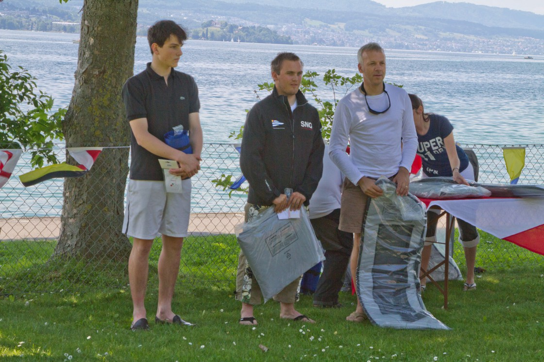 Doré de Morsier (3.), Lauri Kalkinnen (1.), Markus Ochs (2.) @Gaby Lüthy